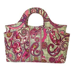 Vera Bradley Abbey Handbag in Paisley Meets Plaid